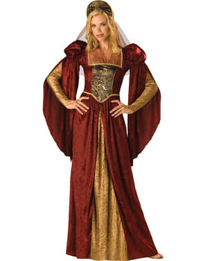 Disfraz de belleza medieval para mujer