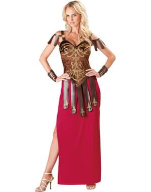 Kriegerische Gladiatorin Kostüm für Damen