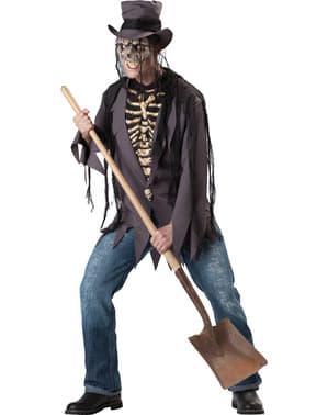 Disfraz de enterrador para hombre