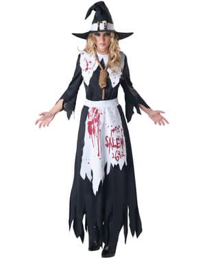 Disfraz de bruja de Salem sangrienta para mujer
