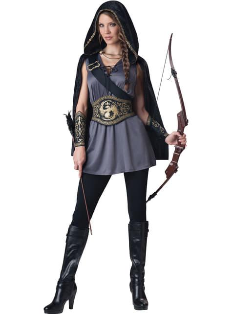 Gefangene Jägerin Kostüm für Damen
