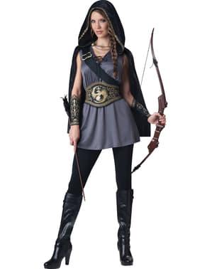 Dámský kostým fantasy lovkyně