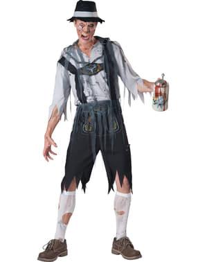 Bavarisk Zombie Kostyme Mann