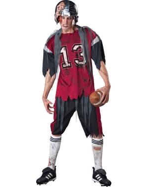 Zombie amerikansk fodbold spiller kostume til mænd