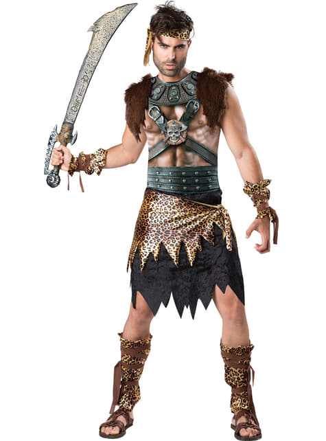 Disfraz de guerrero vikingo realista para hombre