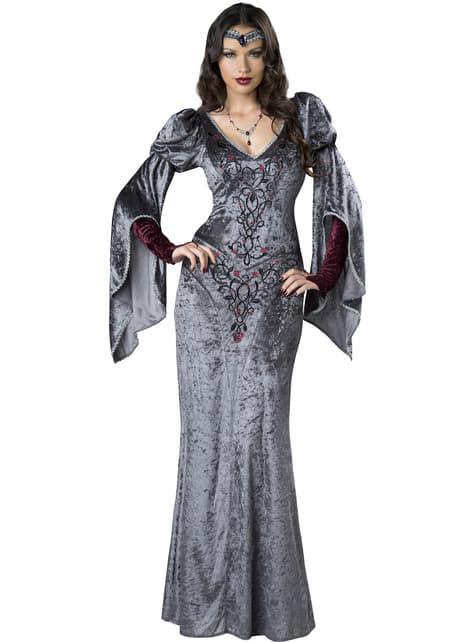 Disfraz de princesa oscura medieval para mujer