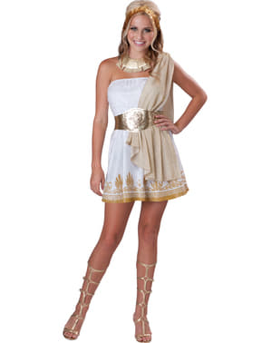 Costum de zeiță greacă auriu pentru femeie