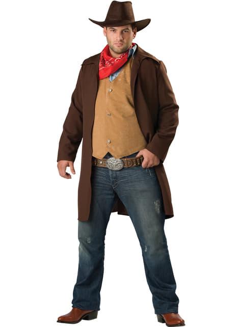 Disfraz de vaquero valiente para hombre talla grande