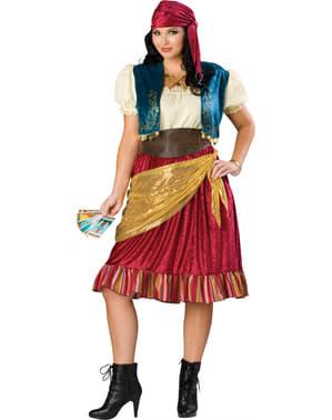 Costum de vrăjitoare sexy pentru femeie mărime mare