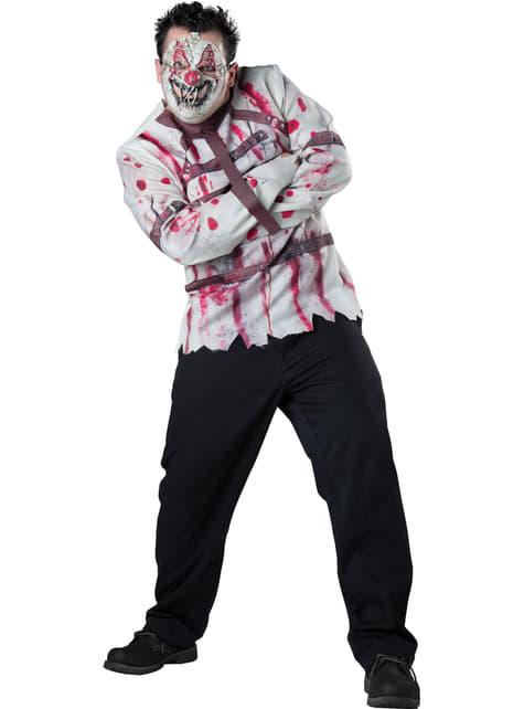 Men's Plus Size Disturbed Clown Costume