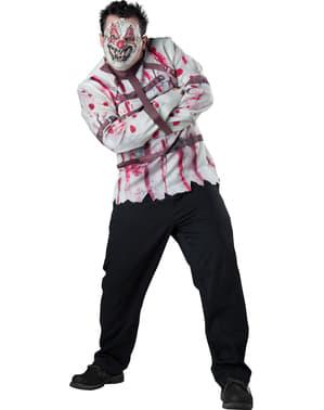 Costume da pagliaccio disturbato per uomo taglia grande