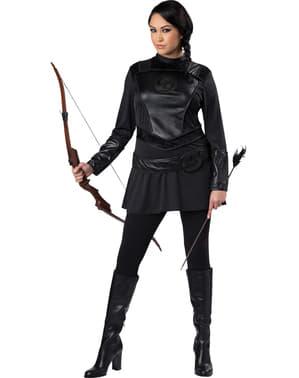 Costume da arciere impavido per donna taglie forti