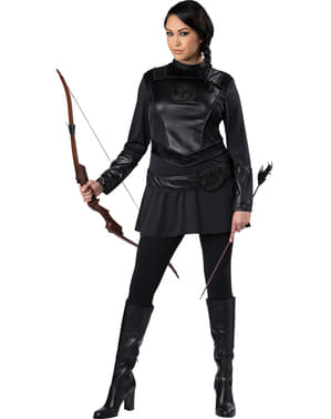 Strijdlustige boogschutter Kostuum voor vrouw grote maat