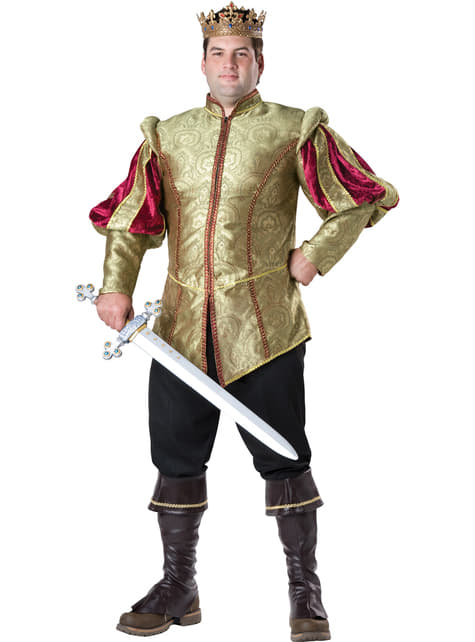 Men's Plus Size Renaissance King Costume