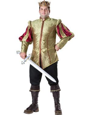 Costume da re del rinascimento per uomo taglie forti