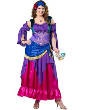 Women's Plus Size Gypsy Fortune Teller Costume