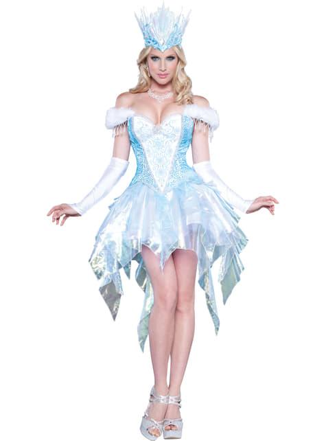 Disfraz de reina del hielo sugerente para mujer