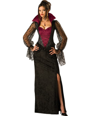 Дамски костюм на вампир в полунощ