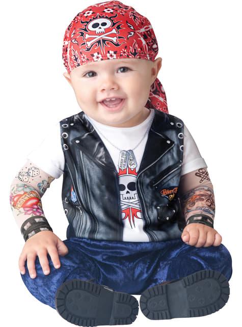 Disfraz de motero adorable para bebé