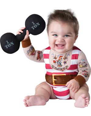 Fato de homem forte de circo para bebé