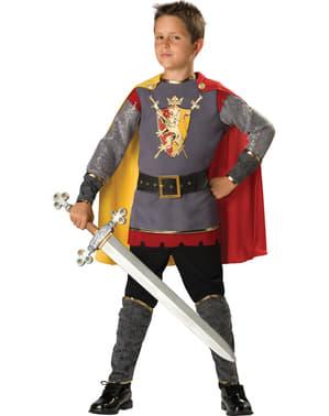 城衣装の少年の騎士