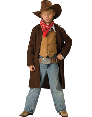 Fato de vaqueiro valente para menino