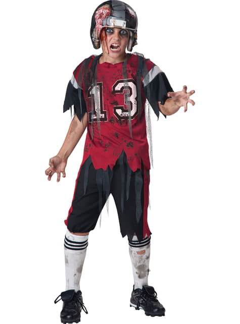 Boy's Zombie Rugby Player Costume