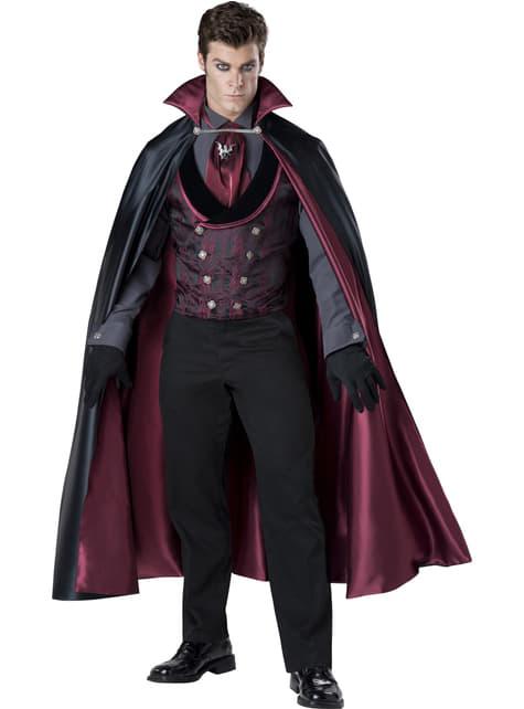 Fato de vampiro elegante para homem