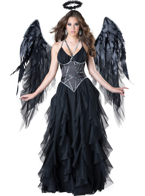 Disfraz de reina angel caído para mujer