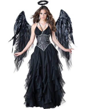 Fato de rainha anjo caído para mulher