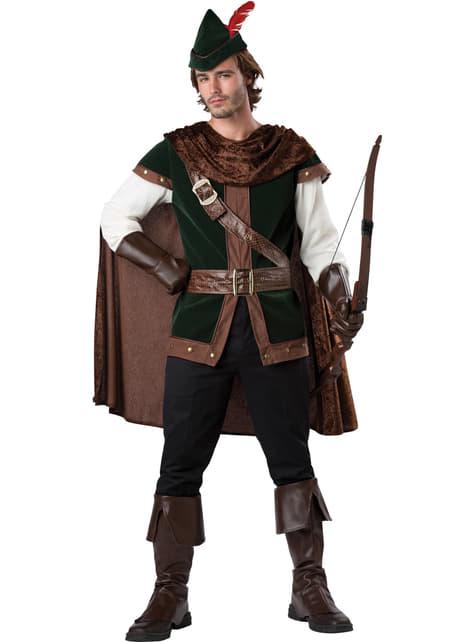 Disfraz de Robin de los bosques deluxe para hombre