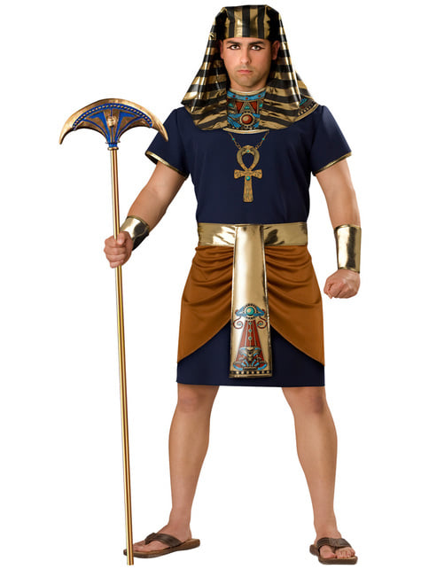 Disfraz de faraón triunfante para hombre talla grande
