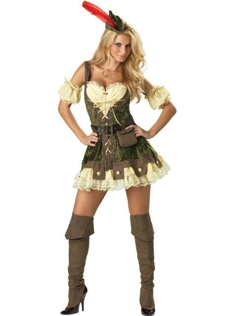 Disfraz de Robin de los bosques sexy para mujer