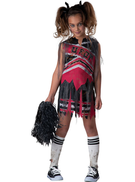 Girl's Dark Cheerleader Costume