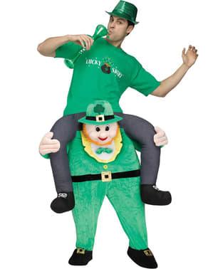 Disfraz a hombros de irlandés Leprechaun San Patricio