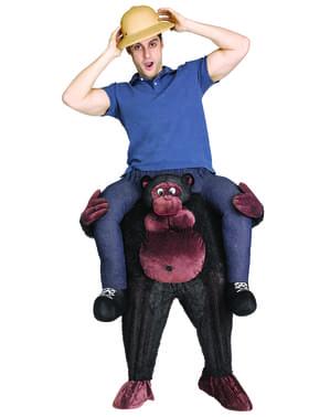 Fato de gorila que escapou do zoo para adulto