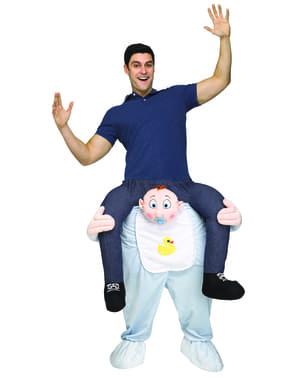 Disfraz a hombros de bebé con chupete