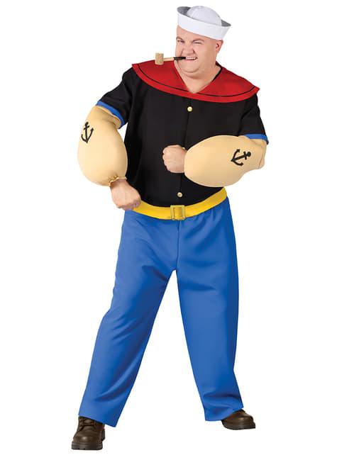 Fato de Popeye para homem tamanho grande