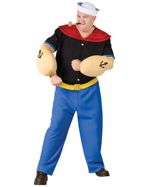 Popeye Kostüm für Herren große Größe