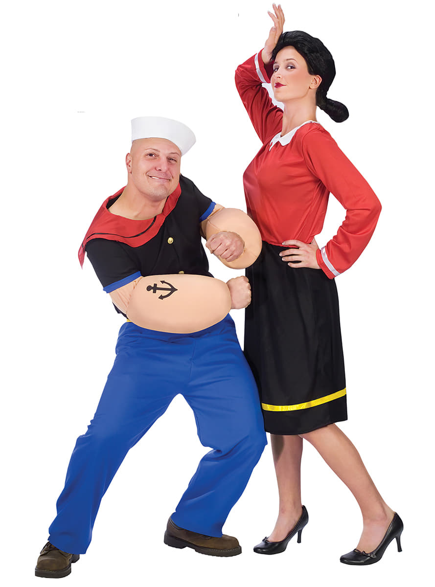Womenu0027s Olive Oyl Popeye Costume  sc 1 st  Funidelia : popeye and olive oil costume  - Germanpascual.Com