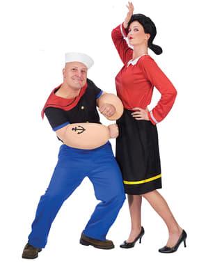 Fato de Olívia Popeye para mulher