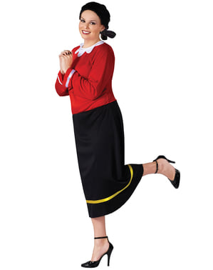 Fato de Olívia Popeye para mulher tamanho grande