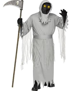 Costum de moarte fantasmală pentru bărbat mărime mare