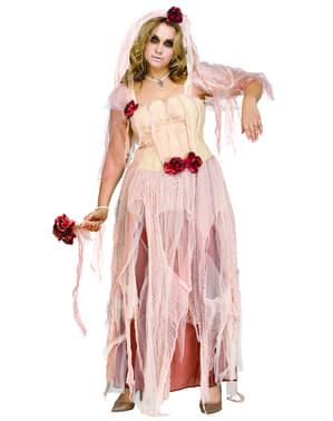 Disfraz de novia cadaver para mujer talla grande