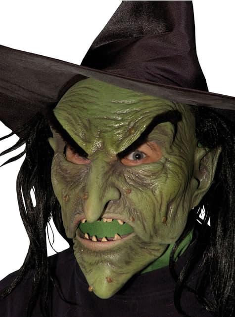 Máscara de bruja malvada para adulto