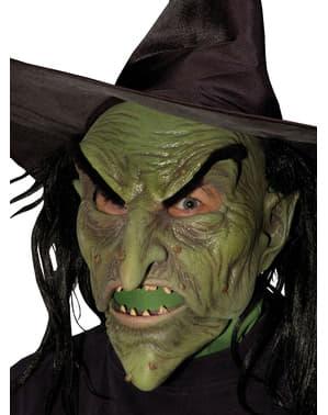 Máscara de bruxa malvada para adulto