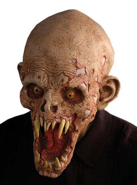 Máscara de zombie putrefacto para adulto