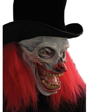 Maska pro dospělé děsivý klaun