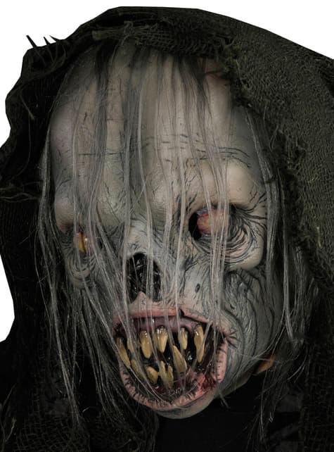 Máscara de alien fantasmal con capucha para adulto