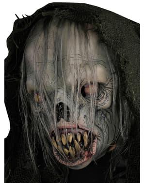 Mask Utomjordingspöke med huva för vuxen